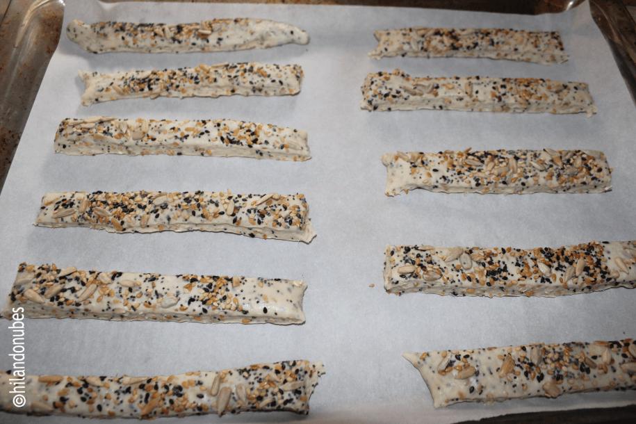 entrehuesosdecereza bastoncitos de pan con semillas