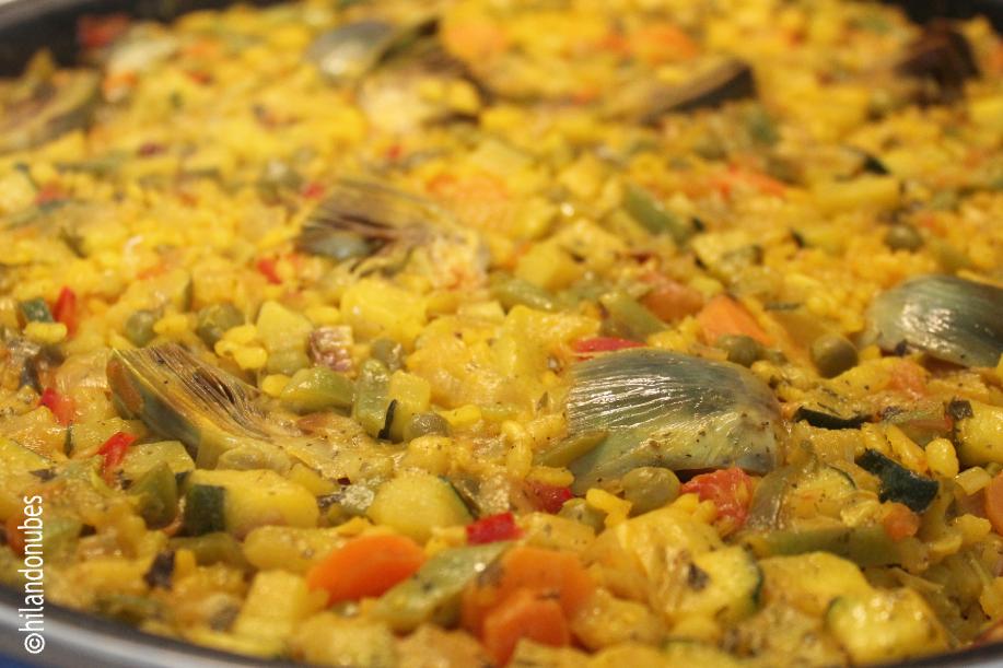entrehuesosdecereza arroz con verdura